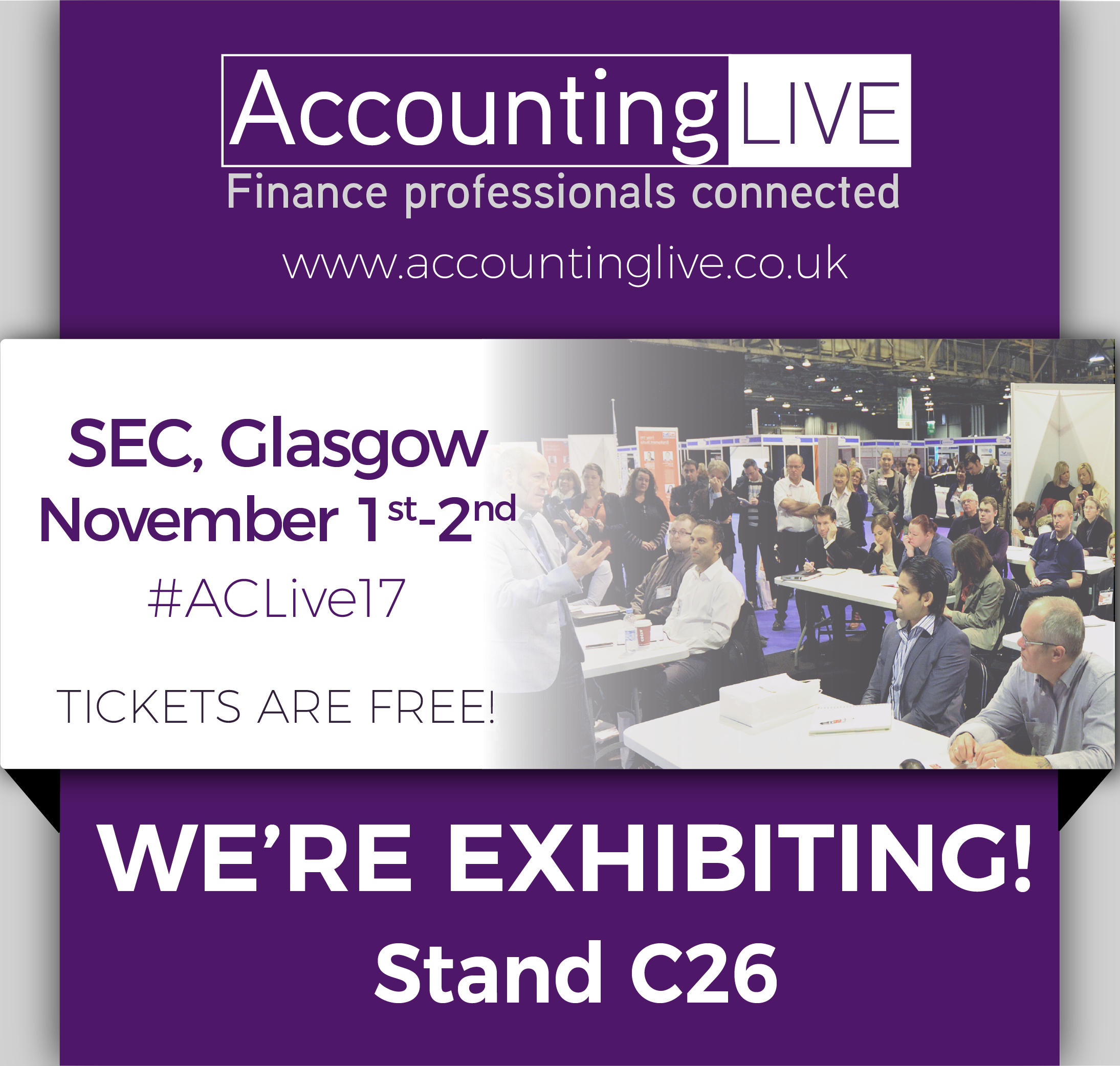 Come and see us at Accounting Live in November!
