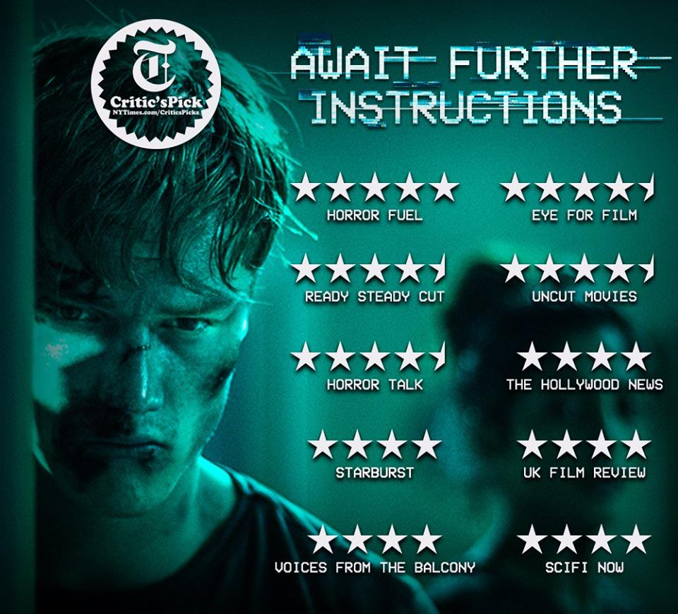 Special screenings of 'Await Further instructions'